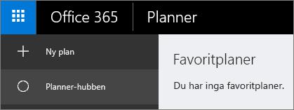 Välj Ny plan i Planner.