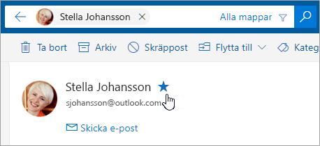 En skärmbild av knappen Lägg till i Favoriter