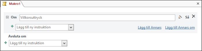 Ett IfThenElse-makroblock i Access