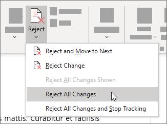 Ignorera alla ändringar