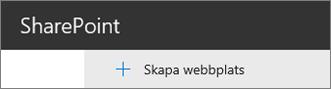 Skapa kommando för webbplats
