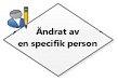 Ändrat av en specifik person