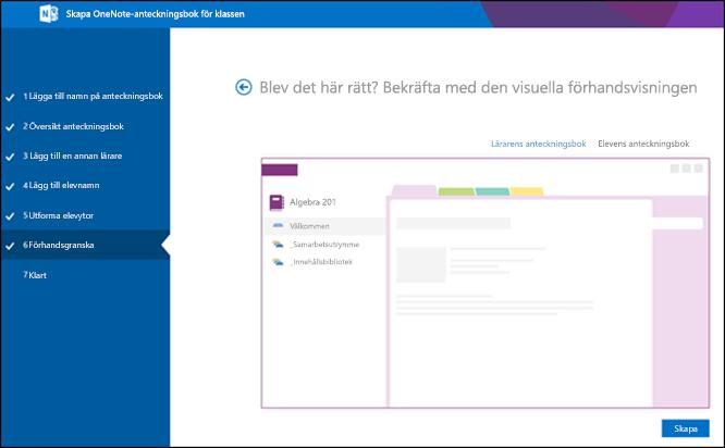 Screenshot av O365-förhandsgranskningsskärmen.
