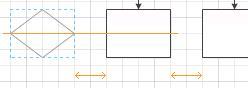 Stödlinjer för justering av placering och avstånd