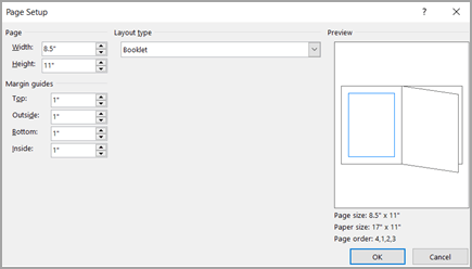 Dialogrutan Utskriftsformat layouttyp