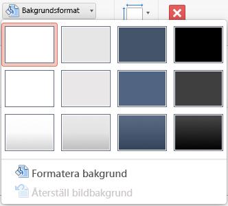 Menyn Bakgrundsformat i PowerPoint för Mac