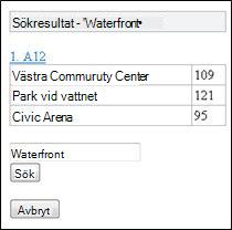 Sökresultat i Mobile Viewer för Excel
