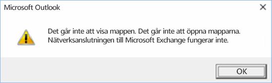 Outlook 2016-fel. Det gick inte att expandera mappen.