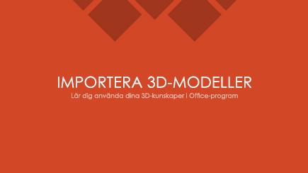 Skärmbild av första bilden i en PowerPoint-mall om 3D