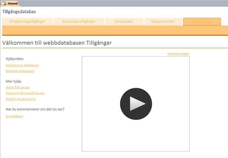webbdatabasen Tillgångar