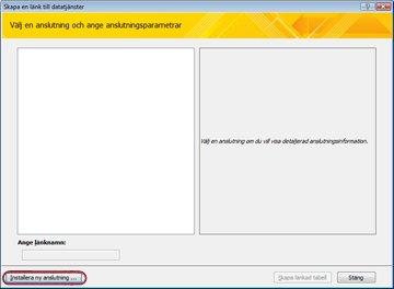 Installera en anslutning för datatjänster