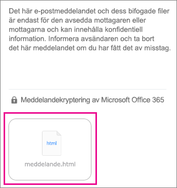 Visningsprogram för OME för e-postappen i iOS 1