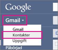 google gmail – klicka på kontakter