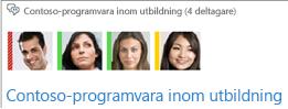 Skärmbild av fotogalleriet med medlemmar högst upp i chattrumsfönstret