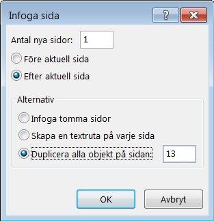 Dialogruta för att lägga till en Publisher-sida