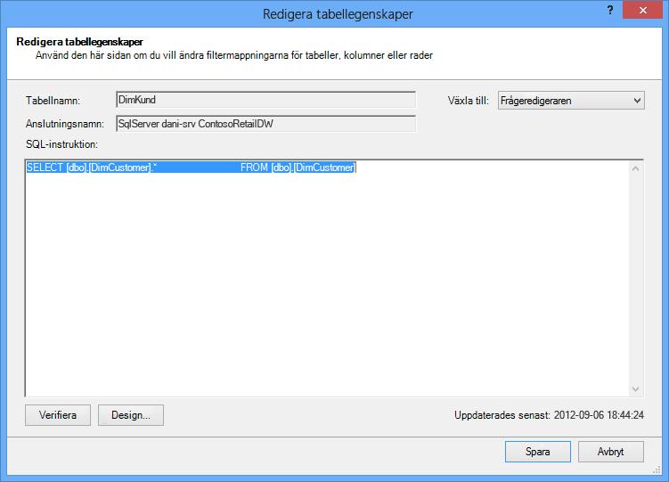 SQL-fråga med kortare standardsyntax