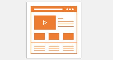 Två olika webbsidelayouter, en för PC och en för mobil
