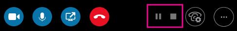 Använd kontrollerna för knapparna Pausa inspelning och Stoppa inspelning
