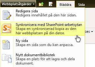 Synkronisera till SharePoint Workspace