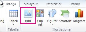 Infoga bild i Office 2010