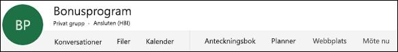 Grupphuvud i Office 365