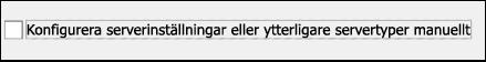 Välj manuell konfiguration för e-post från Yahoo