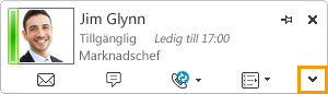 Visa kontaktkort i Lync