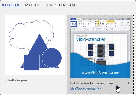 Miniatyr av Visio-mall som tillhandahålls av en tredjepartsleverantör