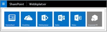 Hybridstartprogram på en SharePoint Server-webbplats