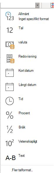 List rutan nummer format