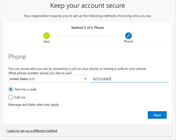 Börja konfigurera ditt telefonnummer för SMS