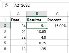 Multiplicera tal med en procentsats