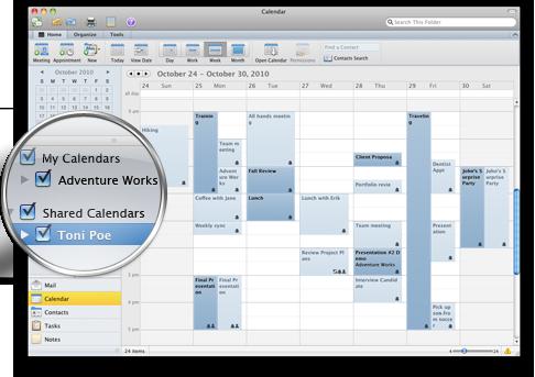 Outlook med flera kalendrar