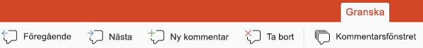Knapparna kommentar i PowerPoint för iPad