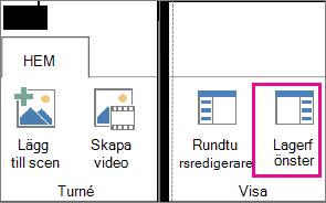 Knapp för fönstret Lager på fliken Startsidan för Power Map