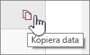 Klicka på ikonen kopiera data om du vill kopiera den aktuella webbdel data