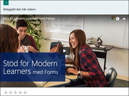 Lägga till YouTube video ruta för Microsoft Forms