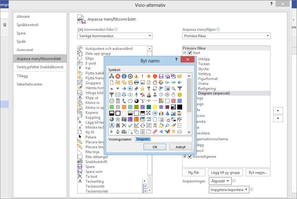 Klicka på ikonen Venndiagram och Skriv Graph i fältet Visa namn och på OK.