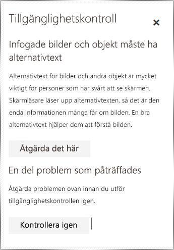 Kontrollera om det finns tillgänglighetsproblem i e-postmeddelanden i Outlook på webben.