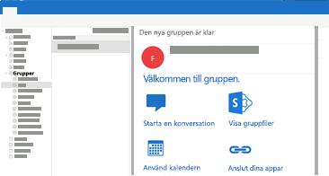 Visa och läs eller svara på gruppkonversationer i Outlook för Mac