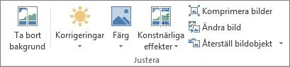 Bildalternativ i gruppen Justera