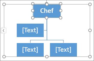 Skriva i en ruta i SmartArt-grafik