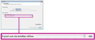 Skjutreglaget för lagringsutrymme offline