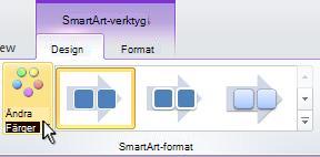 Ändra färg på SmartArt-grafiken.