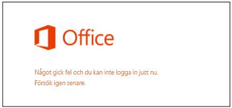 Problem med att logga in på Microsoft-kontot