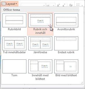 Välj och använd en layout till en bild