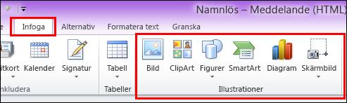 Outlook 2010 Infoga bild