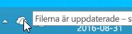 En skärmbild som visar den vita OneDrive-ikonen i Windows 8.1.