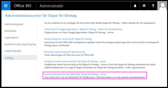 Verktyg i Skype för företag