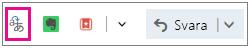 Outlook.com med knappen för tillägget Translator markerad